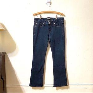 Express Flared Dark Wash Jeans